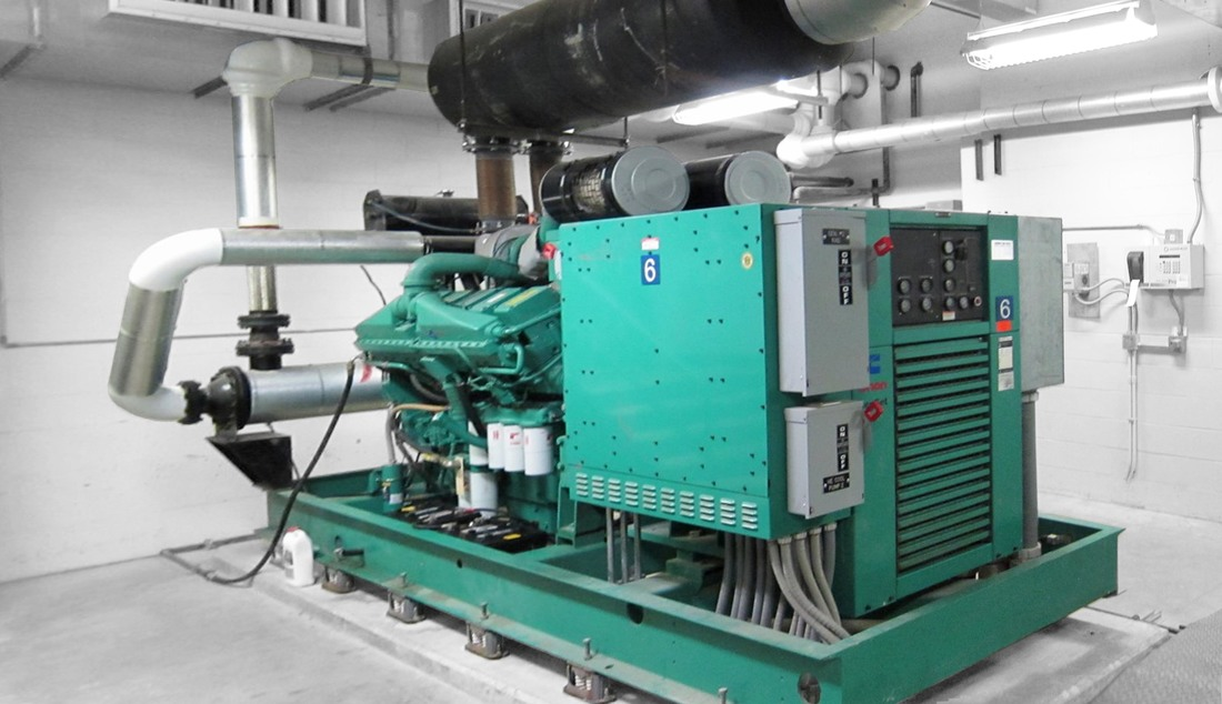 Interior Emergency Generator Set